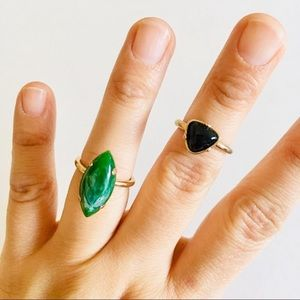 2️⃣ for $10 Ring Bundle Green Black Gold size 7